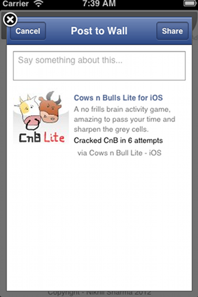 Screenshot Cows 'n' Bulls – Lite
